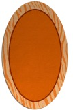 rug #1040990 | oval plain red-orange rug