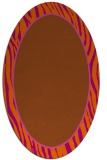 rug #1040994 | oval plain red-orange rug