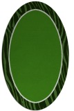 rug #1041002 | oval green animal rug