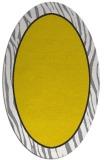 rug #1041042 | oval plain yellow rug