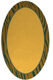 rug #1041046 | oval yellow borders rug