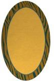 rug #1041046 | oval plain light-orange rug