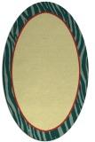 rug #1041050 | oval plain yellow rug