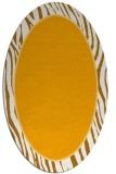 rug #1041070 | oval light-orange rug