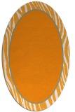 rug #1041078 | oval plain light-orange rug