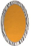 rug #1041082 | oval white animal rug