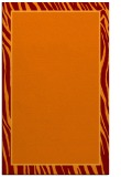 rug #1041290 |  plain red-orange rug