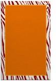 rug #1041294 |  orange stripes rug