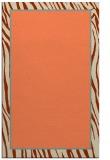 rug #1041298 |  plain orange rug