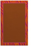 rug #1041362 |  plain red-orange rug
