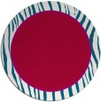 rug #1041574 | round red stripes rug