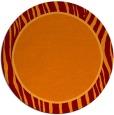 rug #1041658 | round plain orange rug