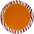 rug #1041662 | round plain orange rug