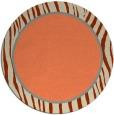 rug #1041666 | round plain orange rug