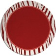 rug #1041714 | round plain red rug