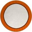 rug #1041734 | round plain red-orange rug