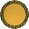 rug #1041782 | round plain yellow rug