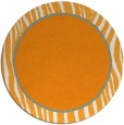 rug #1041814 | round light-orange animal rug