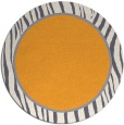 rug #1041818 | round light-orange stripes rug