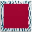 rug #1042310 | square plain red rug