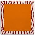 rug #1042398 | square plain orange rug