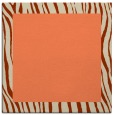 rug #1042402 | square plain orange rug