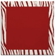 rug #1042450 | square plain red rug