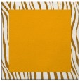 rug #1042542 | square plain light-orange rug