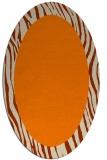 rug #1042559 | oval plain rug