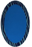 rug #1042590 | oval blue animal rug