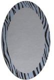 rug #1042670 | oval plain blue-violet rug