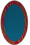 rug #1042682 | oval plain blue-green rug