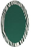 rug #1042694 | oval green borders rug