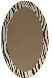 rug #1042714 | oval plain mid-brown rug