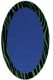 rug #1042758 | oval plain black rug