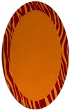 rug #1042762 | oval plain red-orange rug