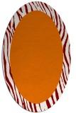rug #1042766 | oval orange animal rug