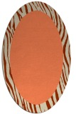 rug #1042770 | oval plain beige rug