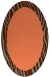 rug #1042774 | oval plain red-orange rug