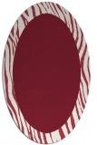 rug #1042782 | oval pink animal rug