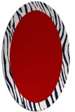 rug #1042810 | oval red stripes rug