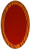 rug #1042814 | oval orange stripes rug