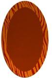 rug #1042816 | oval animal rug