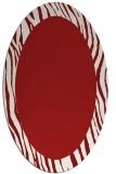 rug #1042818 | oval red borders rug