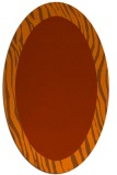 rug #1042826 | oval plain red-orange rug