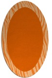 rug #1042830 | oval plain red-orange rug