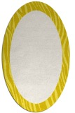 rug #1042850 | oval plain white rug