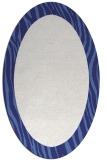 rug #1042854 | oval blue animal rug