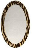 rug #1042858 | oval plain brown rug