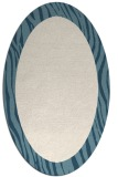 rug #1042866 | oval plain white rug
